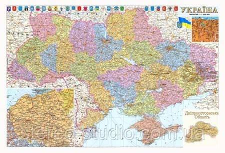 Карта України — друк на замовлення