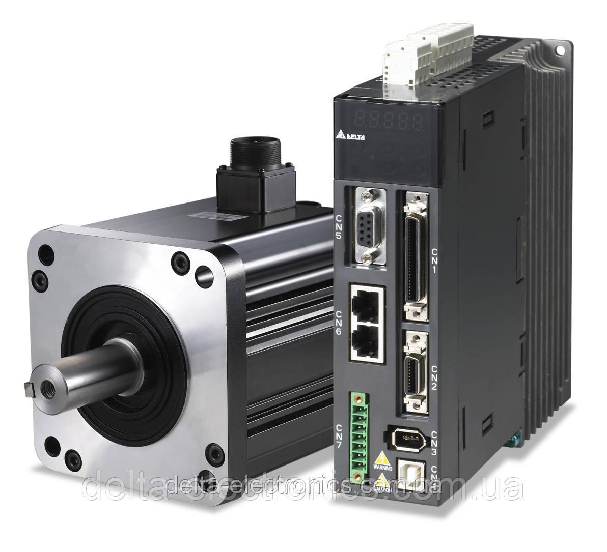 Комплект сервопривода A2, 200Вт, 1-ф, 230В, номин.момент 0,64Нм., 3000об./мин. энкодер 20 бит