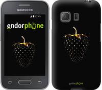 "Чехол на Samsung Galaxy Young 2 G130h Черная клубника ""3585u-206"""