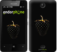 """Чехол на Microsoft Lumia 430 Черная клубника """"3585u-153"""""""