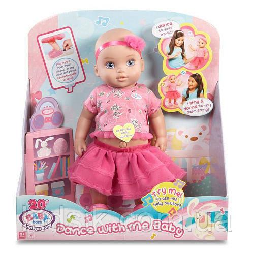 Интерактивная танцующая кукла ZAPF Baby Born Dance with Me Baby