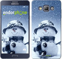 "Чехол на Samsung Galaxy A7 A700H Весёлый снеговичёк ""214u-117"""