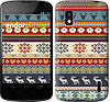 "Чехол на LG Nexus 4 E960 Рождественский орнамент ""3303u-203"""