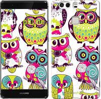 "Чехол на Huawei P9 Plus Совы ""1805u-300"""
