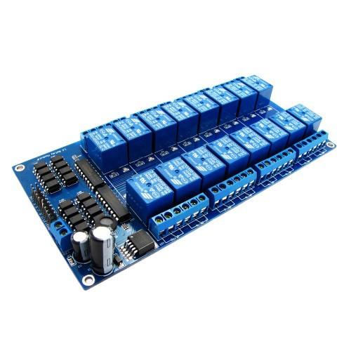 16-канальный модуль реле 5V для микроконтроллера