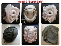 Шлем для карате KUDO Суперсейф, винил белый тип 2