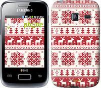 """Чехол на Samsung Galaxy Y Duos S6102 новый год и красные олени """"1487u-251"""""""