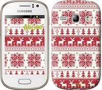 """Чехол на Samsung Galaxy Fame S6810 новый год и красные олени """"1487u-254"""""""