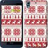 """Чехол на HTC Desire 626G новый год и красные олени """"1487u-144"""""""