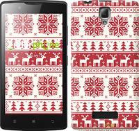 """Чехол на Lenovo A2010 новый год и красные олени """"1487c-216"""""""