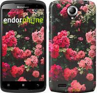 """Чехол на HTC Desire 620G Куст с розами """"2729u-187"""""""