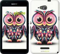 """Чехол на Sony Xperia E4g Сова v3 """"2925u-326"""""""