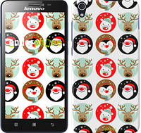 "Чехол на Lenovo S850 Christmas 2 ""3849c-78"""