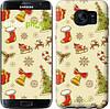 "Чехол на Samsung Galaxy S7 Edge G935F Новогодняя текстура v2 ""1483c-257"""