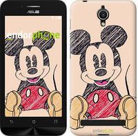 """Чехол на Asus ZenFone Go ZC451TG Нарисованный Мики Маус """"2731u-276"""""""