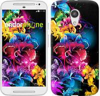 """Чехол на Motorola Moto G2 Абстрактные цветы """"511u-330"""""""
