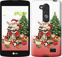 """Чехол на LG L Fino D295 Дед Мороз с подарками """"219u-240"""""""