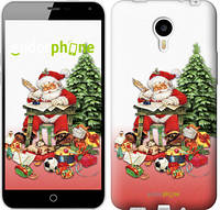"""Чехол на Meizu M1 Note Дед Мороз с подарками """"219u-172"""""""