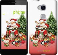 """Чехол на Huawei Honor 5X Дед Мороз с подарками """"219u-176"""""""
