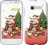 """Чехол на ALCATEL One Touch Pop C5 5036D Дед Мороз с подарками """"219u-324"""""""