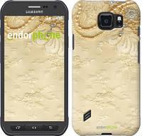 """Чехол на Samsung Galaxy S6 active G890 Кружевной орнамент """"2160u-331"""""""