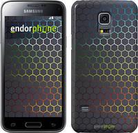 """Чехол на Samsung Galaxy S5 mini G800H Переливающиеся соты """"498c-44"""""""