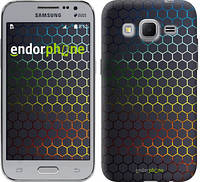"Чехол на Samsung Galaxy Core Prime G360H Переливающиеся соты ""498c-76"""
