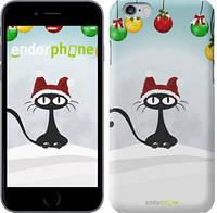 "Чехол на iPhone 6 Plus Новогодний кот ""211c-48"""