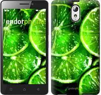 """Чехол на Lenovo Vibe P1m Зелёные дольки лимона """"852c-154"""""""