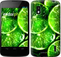 """Чехол на LG Nexus 4 E960 Зелёные дольки лимона """"852u-203"""""""