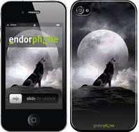"Чехол на iPhone 4 Воющий волк ""934c-15"""
