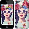 "Чехол на iPod Touch 6 Девушка с цветами ""2812c-387"""