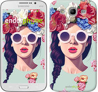 "Чехол на Samsung Galaxy Mega 5.8 I9150 Девушка с цветами ""2812u-309"""