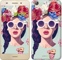 """Чехол на Huawei Y6 II Девушка с цветами """"2812u-338"""""""