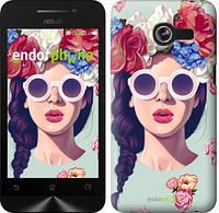 """Чехол на Asus ZenFone 4 A400CGX Девушка с цветами """"2812u-142"""""""