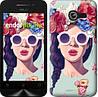 "Чехол на Asus ZenFone Max ZC550KL Девушка с цветами ""2812c-271"""