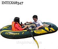 Надувная лодка Intex 68347 насос+весла, фото 1