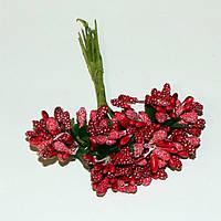 Тычинки цветочек. Красные (12 пучков)