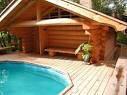 Коттедж из бруса с гаражом. Строительство деревянных бань и саун из сру.ба. Дома со сруба