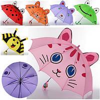 Зонтик детский MK 0527   длина 49,5 см,трость 61,5 см,диам. 77 см