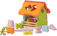 Сортер деревянный Домик 11599 Cubika