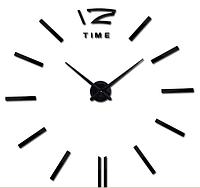 Настенные часы большого диаметра,  черные