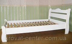 """Белая двуспальная кровать """"Грета Вульф"""". Массив - сосна, ольха, береза, дуб., фото 3"""
