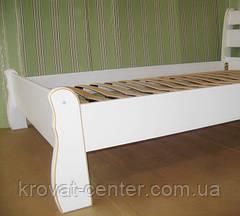 """Белая двуспальная кровать """"Грета Вульф"""". Массив - сосна, ольха, береза, дуб., фото 2"""