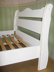 """Белая полуторная кровать из натурального дерева """"Грета Вульф"""", фото 3"""