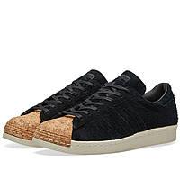 Оригинальные  кроссовки Adidas Women's Superstar 80s Cork W Core Black