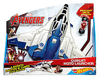 Самолет Hot Wheels Marvel Avengers Age of Ultron Quinjet Moto Launcher.