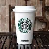 Кружка Starbucks керамика, кружка-стакан, керамическая чашка starbucks, термокружка старбакс