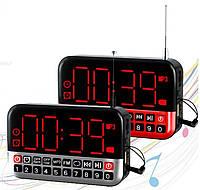 Радиоприемник-часы L-80 mp3 с аккумулятором, фото 1