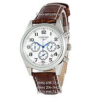 Мужские наручные часы Longines Master Collection Chronograph Brown/Silver/White